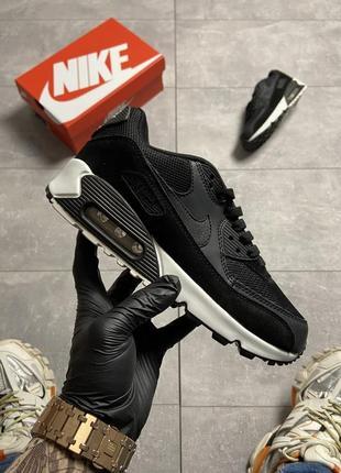 Nike air max 90 🆕шикарные женские кроссовки🆕кожаные черные найк🆕жіночі кросівки🆕