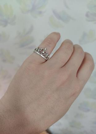 Колечко корона серебро