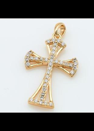 Крестик мед.золото