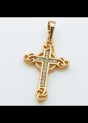 Кулон крестик медицинское золото