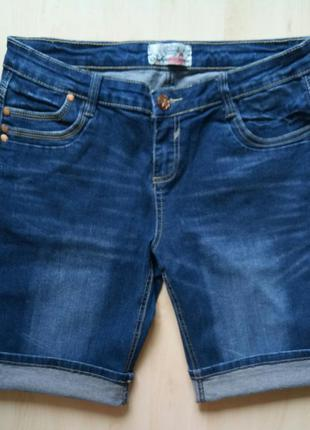 Стильные джинсовые шорты длинные удлиненные до колена от authentic denim 12 l