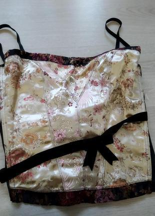 Изысканый  топ кроп корсет блузка короткая