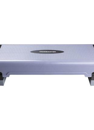 Степплатформа world sport ironmaster l90*w32*h15/21/27cm pp skl11-281728