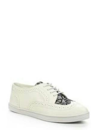 Крутейшие белые броги, туфли, оксфорды
