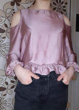 Сатинова блуза1 фото