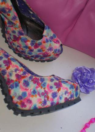 Итальянские яркие туфли stella marco, 35-36