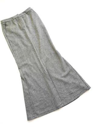 Длинная шерстяная юбка макси в пол  рыбка mango шерсть