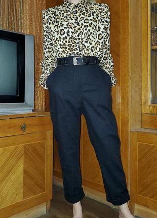 Льняные брюки высокая талия посадка asos, лён в составе