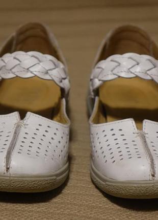 Летние белые перфорированные кожаные туфельки hotter англия 37 1/2 р.