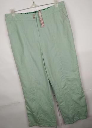 Штаны брюки новые натуральные льняные marks&spencer uk 16/44/xl