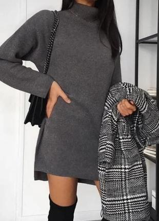 Платье туника теплое
