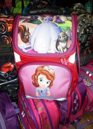 Рюкзак,ранец школьный, каркасный, ортопедический -светоотражающие элементы