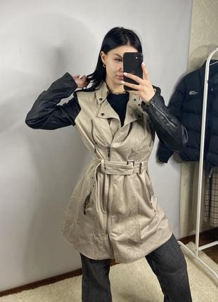 Тренч плащ пальто guess оригинал женский с поясом средней длины