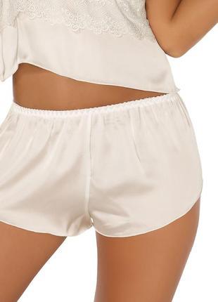 10-12 сатиновые секси высокие пижамные шортики короткие шорты для сна и дома