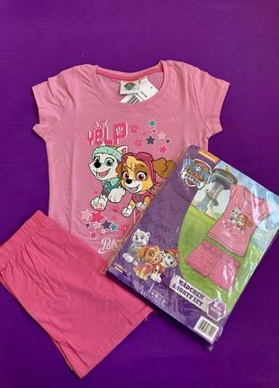 Щенячий патруль скай комплект майка шорты пижама набор для девочки