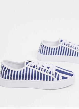 Классные полосатые кеды из новой коллекции, кроссовки на шнурках asos