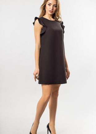 Платье с рукавами фонарик