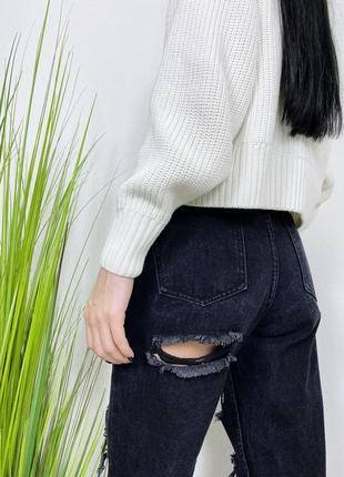 Джинсы высокая посадка в винтажном стиле винтаж boohoo