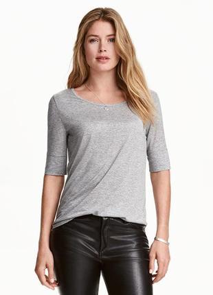 Меланжевая футболка xs(160/80a)