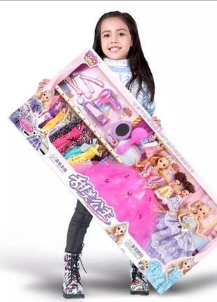 Большой набор кукол барби с детьми и одеждой + аксессуары