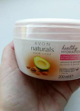 Бальзам-уход для волос avon природная мягкость. авокадо и миндаль