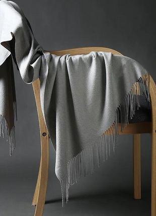 Кашемировый шарф серый