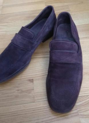 Лофери туфлі чоловічі замшеві/лоферы туфли замшевые