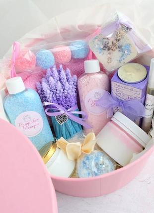 """Подарунковий набір бокс """"lavender box"""" подарунок дівчині, дружині на день народження"""