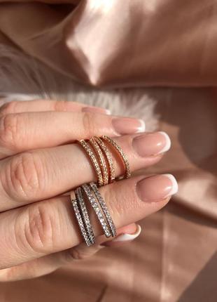 Тонкие колечки - дорожка из камешков