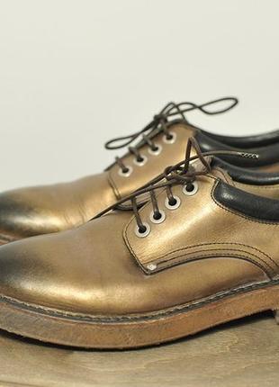 Шкіряні туфлі дербі дерби туфли moma - 40.5 - 26.5-27 см