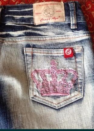 Джинсы фирменные crazy age германия джинс штаны брюки