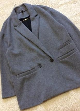 Двубортный блейзер/пальто оверсайз zara