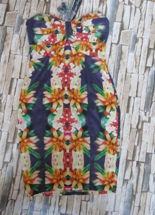 Платье с открытыми плечами размер 44