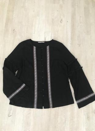 Блуза рубашка в стиле бохо, m-l, вышиванка