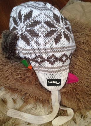 Стильнючая зимняя шапка ушанка от wed'ze
