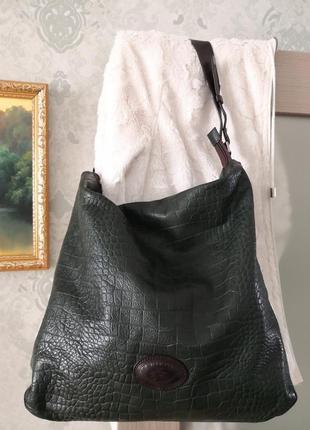 Большая шикарная кожаная сумка la martina, италия💣💣👜💥💥