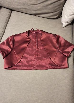 Болеро накидка жакет bhs размер 12,бургунди,марсала,бордо,винный цвет