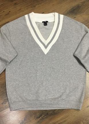 Фирменный пуловер джемпер 3/4 h&m оригинал
