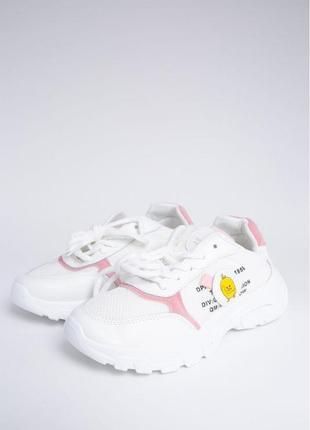 Бело-розовые женские кроссовки 131r780