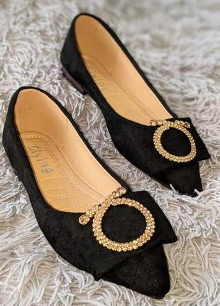 Туфли ,балетки черные женские распродажа