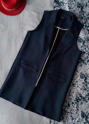 Sale удлинённый жакет жилетка пиджак без рукавов topshop