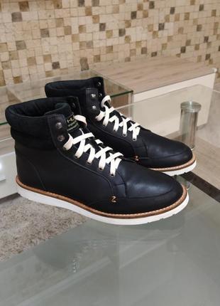 Ботинки hub кожа