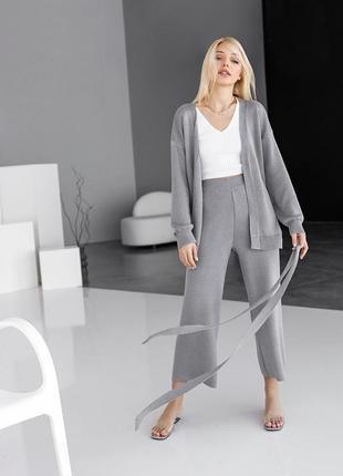 Костюм кардиган брюки вязаные тренд