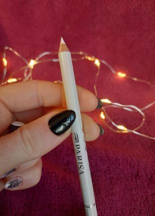 Parisa белый карандаш для глаз и бровей для макияжа век