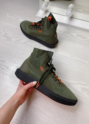 Кожаные кроссовки, кеды puma breaker hi fof оригинал!