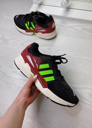 Кожаные кроссовки adidas yung-96 🟢