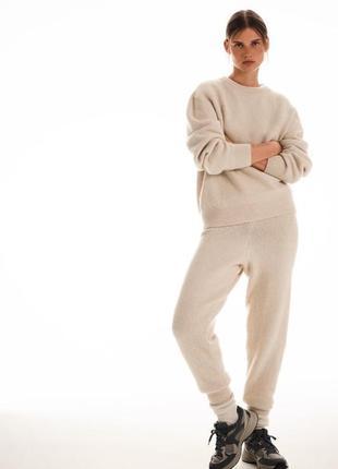 Теплий вязаний костюм zara розмір s,m в наявності