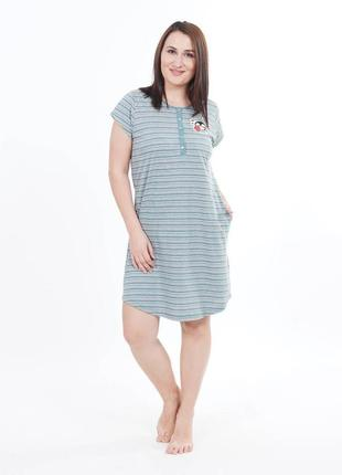 Женская одежда для дома и сна, туника для дома, рубашка платье домашнее батал, тм vienetta