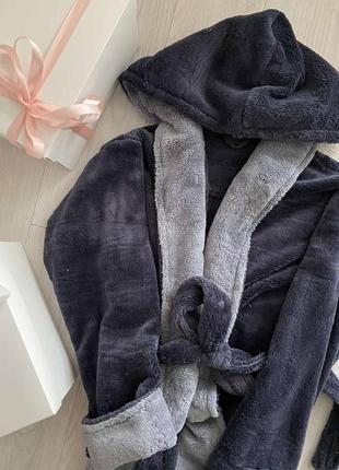Теплый мужской махровый халат2 фото