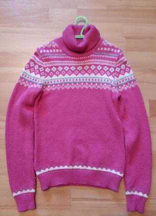 Теплый свитер для девочки sela